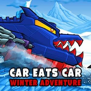 Car Eats Car Winter Adventure Free Online Games Bgames Com